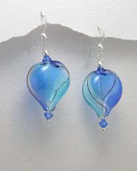 Korvakorut - Fashion Heart Blue